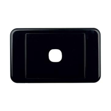Digitek Custom 1 Gang Wall Plate Black 05DWP01BK