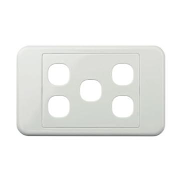 Digitek Custom 5 Gang Wall Plate White 05DWP05