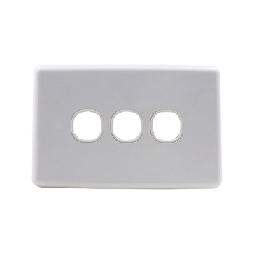 Amdex Custom 3 Gang Wall Plate with Full Cover White WPC-3