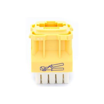 Amdex CAT5e RJ45 Network Insert Yellow DA103YEL