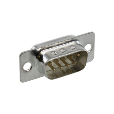 "DB9 ""D Way"" Male Solder Plug Connector"