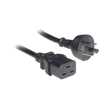 IEC C19 to 3 Pin Power Cable 15A 3m