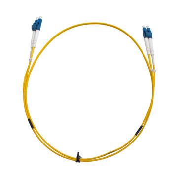 LC-LC OS1 Single Mode Duplex LSZH Fibre Patch Lead 1m