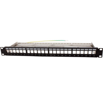 Hyptertec Patch Panel Keystone Unloaded Shielded 24 Port