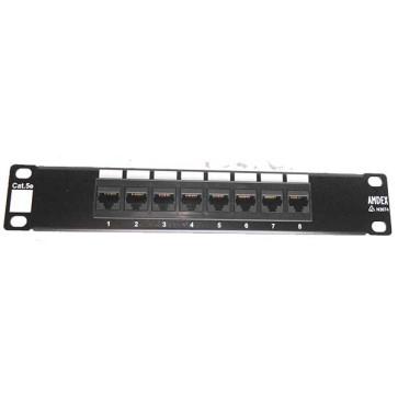 """Amdex SOHO 10"""" CAT5e 8 Port Patch Panel DA10-8P-C5e"""