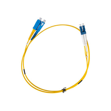 SC-LC OS1 Single Mode Duplex LSZH Fibre Patch Lead 0.5m