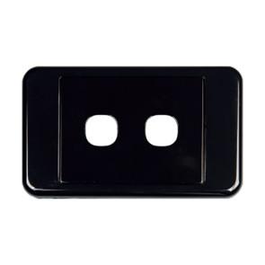 Digitek Custom 2 Gang Wall Plate Black 05DWP02BK