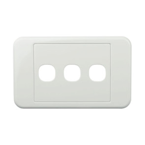 Digitek Custom 3 Gang Wall Plate White 05DWP03