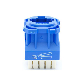 Amdex CAT5e RJ45 Network Insert Blue DA103BLU