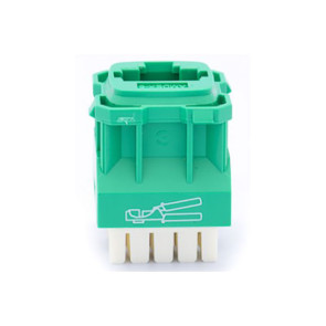 Amdex CAT5e RJ45 Network Insert Green DA103GRN