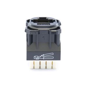 Amdex CAT6 RJ45 Network Insert Black DA600BLK