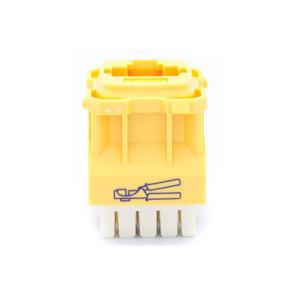 Amdex CAT6 RJ45 Network Insert Yellow DA600YEL