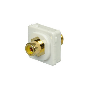 RCA Yellow Female to F Type Female Wall Plate Insert