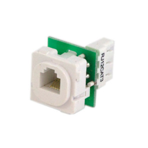 RJ-12 CAT3 Phone Socket Wall Plate Insert