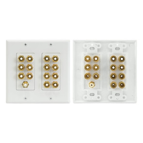 Pro2 Home Theatre 7.1 Speaker Wall Plate 7 Speakers + RCA PRO1144A