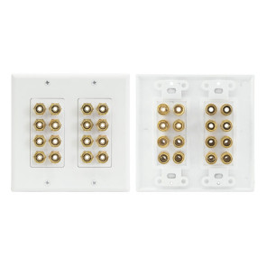 Home Theatre 7.1 Speaker Wall Plate 8 Speakers PRO1144