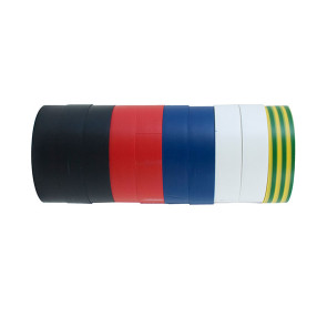 Cabac InsulationTape Rainbow Pack of 10 ITRP