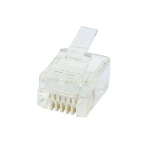 RJ12 6P6C Plug Round Solid