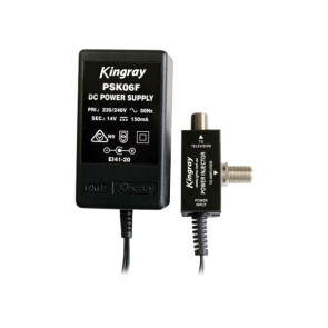 Kingray 14v DC 150ma Power Supply (F-Type) PSK06F