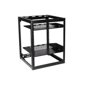 "Sanus 26"" Tall AV Rack 15RU Stackable Skeleton Rack CRF1615"