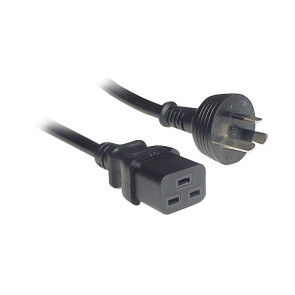 IEC C19 to 3 Pin Power Cable 15A 2m