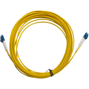 LC-LC OS1 Single Mode Duplex LSZH Fibre Patch Lead 15m