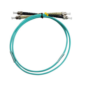 ST-ST Duplex OM3 Multimode Fibre Patch Lead 1m