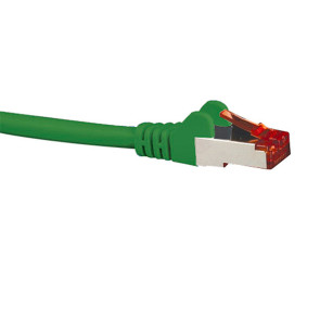 Hypertec CAT6A Shielded Patch Lead Green 1m