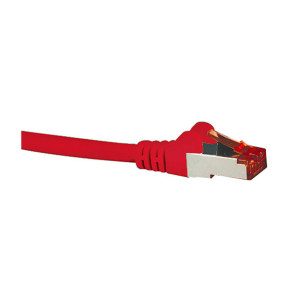 Hypertec CAT6A Shielded Patch Lead Red 1m