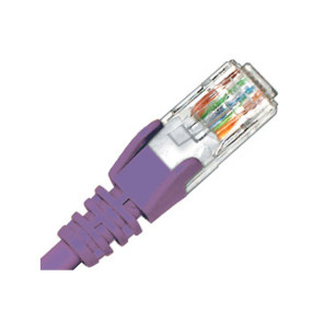 Hypertec CAT6 Patch Lead 0.3m Purple