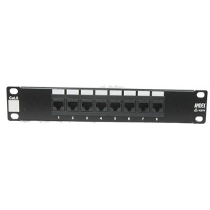 "Amdex SOHO 10"" CAT6 8 Port Patch Panel DA10-8P-C6"