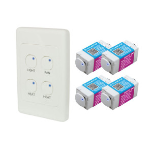 Cabac S-Click 4 in 1 Bathroom Timer Kit HNS444BK