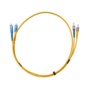 ST-SC OS1 Single Mode Duplex LSZH Fibre Patch Lead 1m