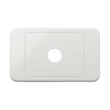 Digitek Custom 1 Gang Wall Plate White 05DWP01