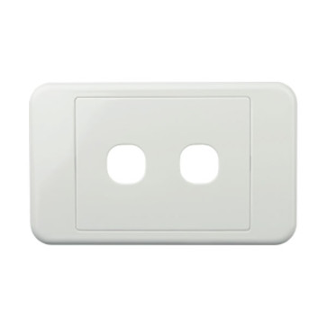 Digitek Custom 2 Gang Wall Plate White 05DWP02