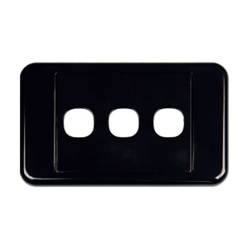 Digitek Custom 3 Gang Wall Plate Black 05DWP03BK