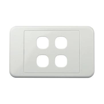 Digitek Custom 4 Gang Wall Plate White 05DWP04