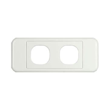 Digitek Architrave 2 Gang Wall Plate White 05DAWP02