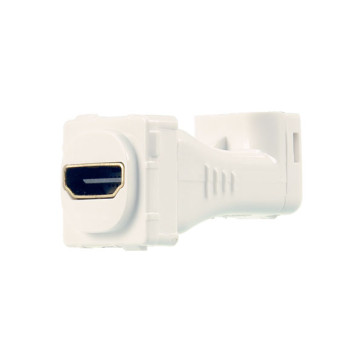 Digitek HDMI Right Angle Wall Plate Insert White 05BC6R