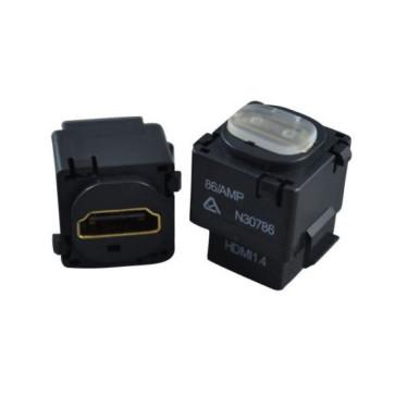 HDMI Wall Plate Insert (Black) v1.4 1080p 3D 4K