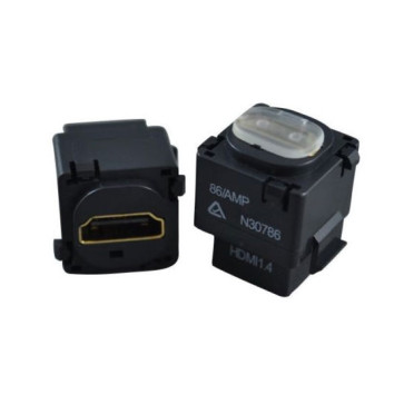 HDMI Wall Plate Insert (Black) v1.4 1080p 3D 4K (2 Pack)