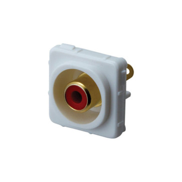 RCA Red Female to Solder Rear Wall Plate Insert