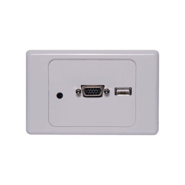 Dynalink VGA / USB / 3.5mm Clipsal 2000 Style Wallplate P6849A