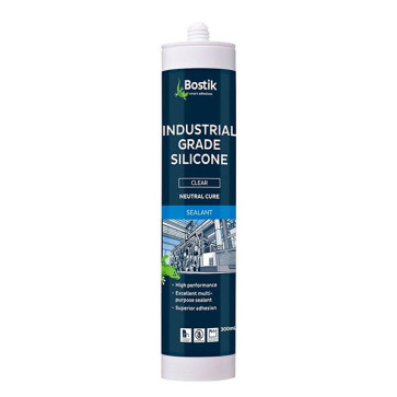 Bostik Industrial Grade Silicone Clear 300ml
