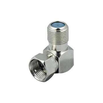 F Type Female to F Type Male Right Angle Adapter (3ghz) - 50 Pack