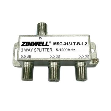 Zinwell 3 Way 1200Mhz Splitter for NBN HFC MSG-313LT-B-1.2