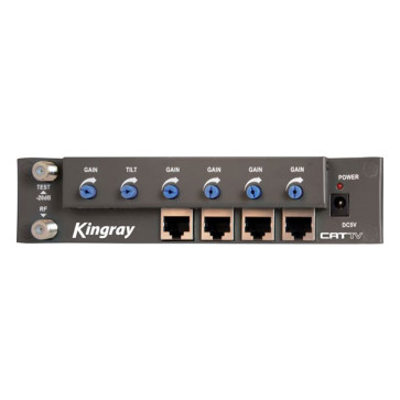 Kingray RF over CAT5 Amplifier 4 Outputs CAT01