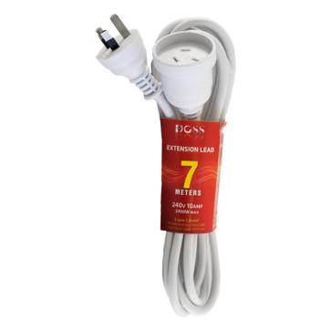 Doss Power Extension Lead 7m White EXL7M