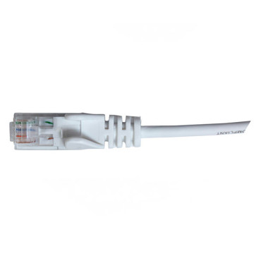 Hypertec CAT6 Slim Patch Lead 28awg White 0.3m