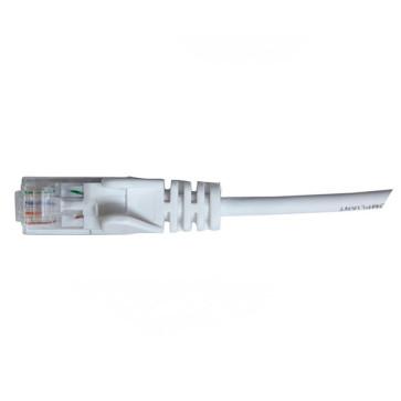 Hypertec CAT6 Slim Patch Lead 28awg White 1m